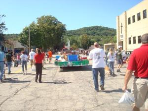 Merchants Bank - La Crescent's float in the 2013 King Apple Parade on Sunday, September 22.