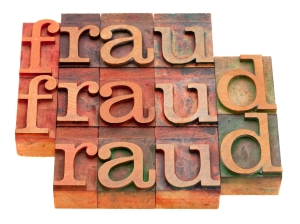 fraud word abstract