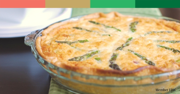 Ham & cheese quiche