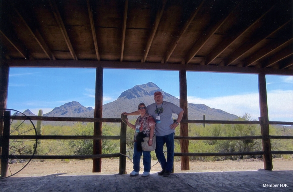 Nancy Denstad, on vacation with her husband Tony in Tucson, Az.