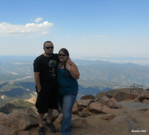 Meet Nikki Kemp, Fraud Specialist at Merchants, pictured with her husband Ben at the top of Pike's Peak.