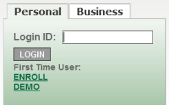 Online Banking Login Box Before 1/12/2016