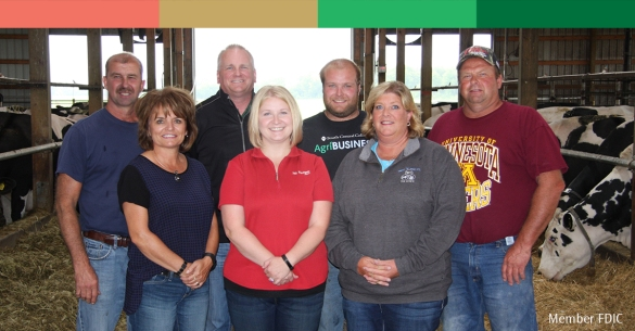 Triple O Dairy and Merchants Bank staff members